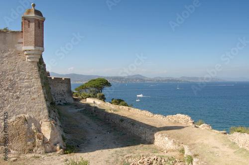 Leinwandbild Motiv St Tropez castle walls looking north