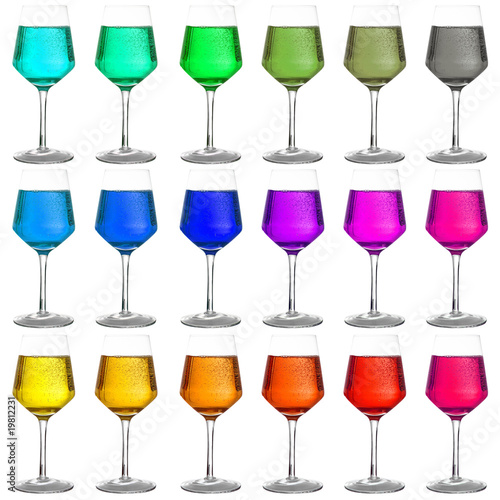 Bicchieri colorati di giuseppe porzani foto stock royalty for Bicchieri colorati