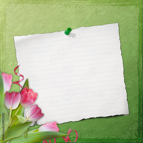 Grunge paper design for information in scrapbooking style