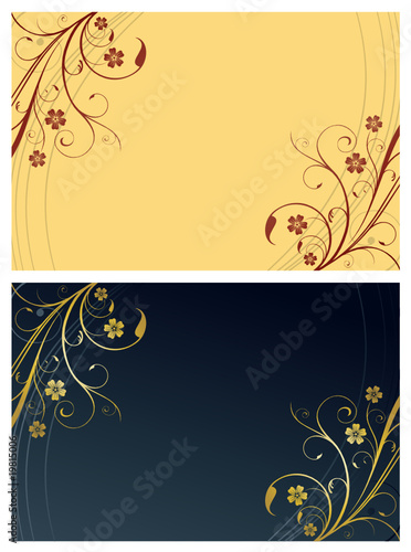 Floral Cards with text space