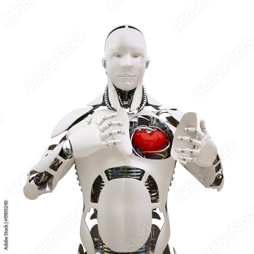 Robot with open heart