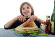 Chandeleur - Enfant gourmand heureux