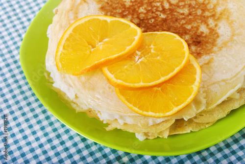 Crêpes parfumées à l'orange