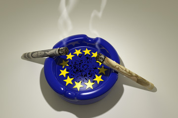 Euro Ashtray