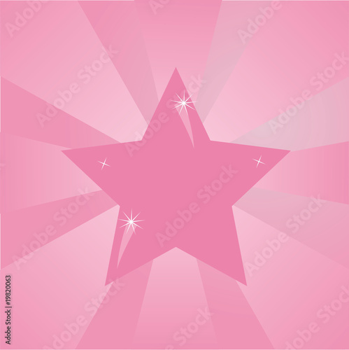 star over pink background