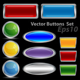 vector buttons. Eps 10 version poster