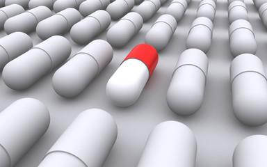 pills (3d render)