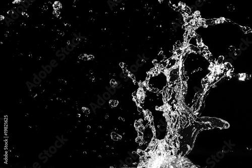 Stylish water splash. Isolated on black background . - 19821625