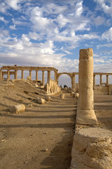 The antique ruins of Palmyra