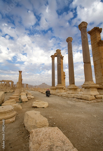 The colonnaded decumanus of Palmyra