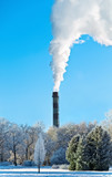 industrial smokestack poster