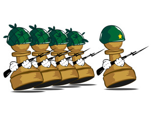 army of pawns