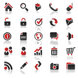 Fototapety red icons set 1