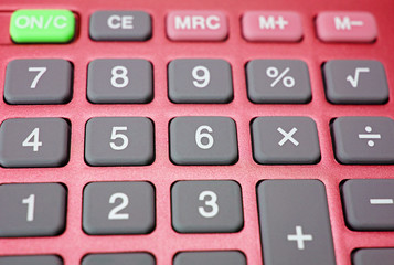 Pocket Calculator Makro - Taschenrechner rot grau