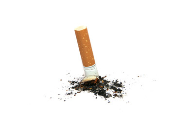 cigarette butt isolated
