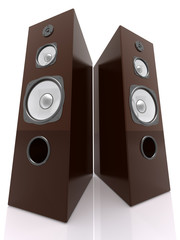 3D Wooden Speakers
