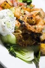 grilled lemon grass shrimp thai food
