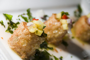 thai crab cakes appetizer