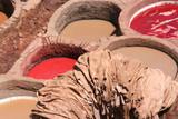 vasche di tintura alla conceria di Fez poster