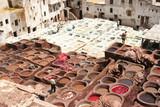 conceria di Fez, Marocco poster