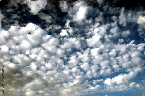 Beautiful sky with puffy clouds