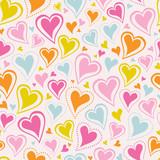 Fototapety seamless heart pattern