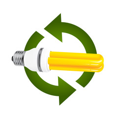 recycle new energy saving fluorescent light bulbs