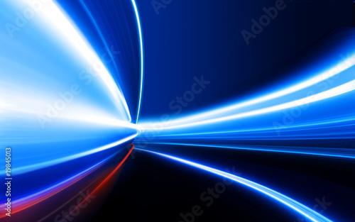 Leinwandbild Motiv speed on night road