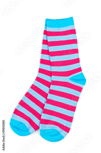 Pair of colorful socks - 19845880