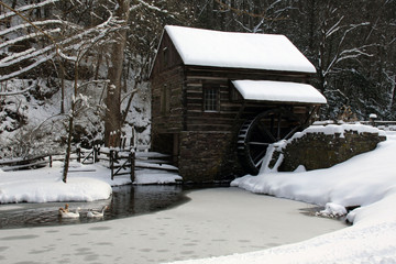 Historic Mill in Winter
