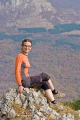Hiker in autumn