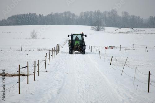 snowy road - 19852895