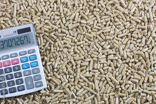 wood pellets & calculator