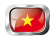 vietnam shiny button flag vector illustration. Isolated abstract