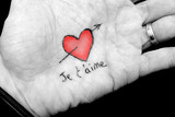 Fototapety Déclaration d'amour avec sa main
