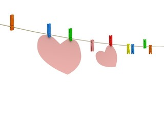 Heart on clothes peg
