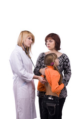 Doctor stethoscope little girl