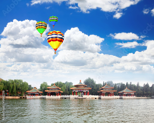 The Beihai Park near Forbidden City Beijing