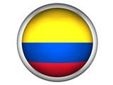 National Flag of Colombia | Button Style | poster