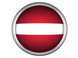 National Flag of Latvia | Button Style | poster