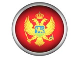 National Flag of Montenegro | Button Style | poster