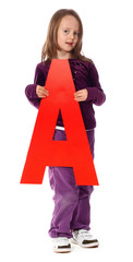 "Letter ""A"" girl - See all letters in my Portfolio"