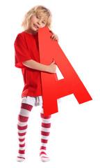 """Letter """"A"""" girl"""