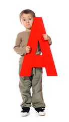 "Letter ""A"" boy - See all letters in my Portfolio"