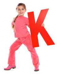"Letter ""K"" girl - See all letters in my Portfolio"
