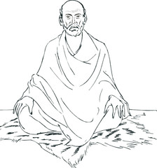 Illustration of Sri Narayana Guru