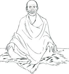 Illustration of Sri Narayana Guru
