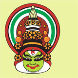 Illustration of Kathakali, a divine Kerala art form