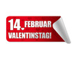 14. Februar Valentinstag! Button, Icon