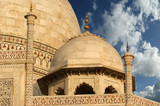 mausoleum Taj Mahal  is a  located in Agra, India poster